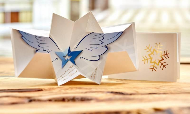 Weihnachtskarten Origami.Außergewöhnliche Weihnachtskarten Drucken Lassen